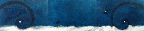 Super Warp Hole 2 (blue)  P6×3   1230mm×273mm (3pieces)   Acrylic 2012