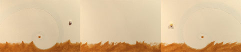 Super Warp Hole 1 (ivory)  P6×3   1230mm×273mm (3pieces)   Acrylic 2012