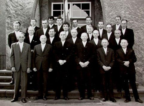1968 - Chorfoto zum 75-jährigen Bestehen