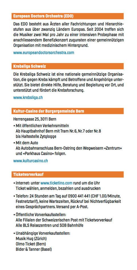 Concert leaflet page 2