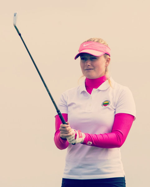 Luisa is a golf professional who plays tournaments all over Europe. Sponsors are very much needed to ensure consistent planning during the season.