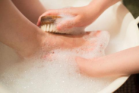 足を洗うコース