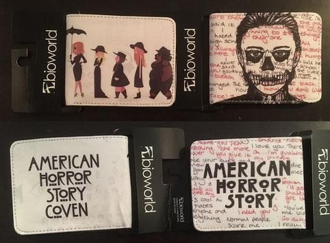 1 von 3 verschiedenen American Horror Story Geldbeuteln
