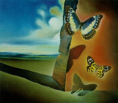 Пейзаж с бабочками - самые необычные картины Сальвадора Дали