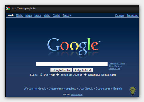 Normale Google Page