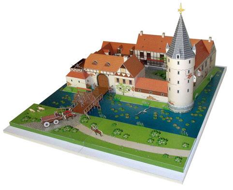 Ein Kartonmodell der Cloppenburg, als Bastelbogen konzipiert von Monno Marten
