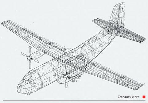 Transall C160 Strukturzeichnung