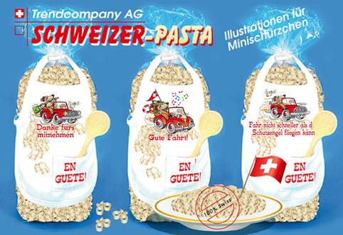 Automotive auf Schweizer-Pasta Geschenktüten