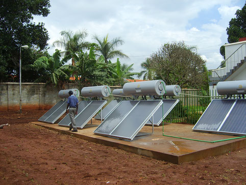 Solar thermal system for a brewery in Uganda