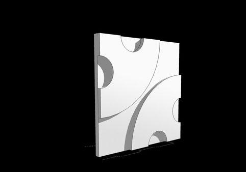 formkonzept Sporbert 3D Wandpaneele