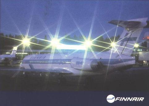 Postkarte mit einer MD-87/Courtesy: Finnair