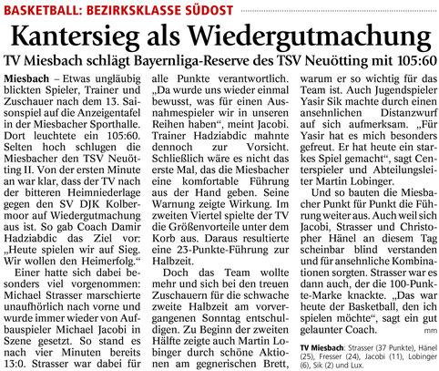 Bericht im Miesbacher Merkur am 1.3.2016 - Zum Vergrößern klicken