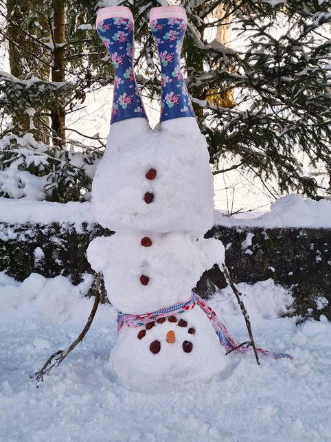 Dieser sportliche Schneemann wurde zum  Sieger gewählt!!