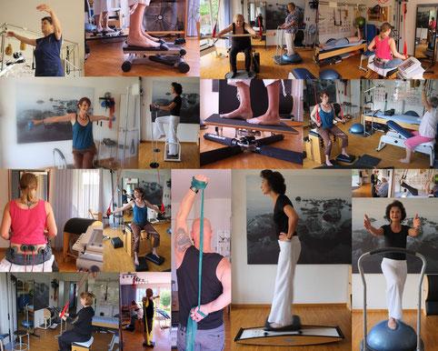 Pilates Bosu Ball Gleichgewichtstraining