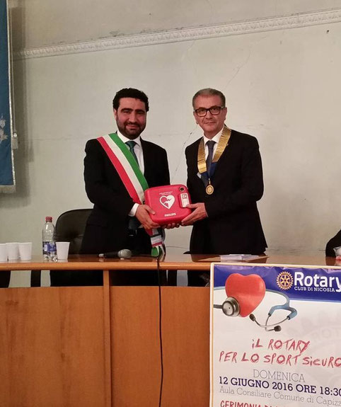 Cerimonia di consegna al Sindaco di Capizzi Avv. Giacomo Purrazzo presso l'aula consiliare - 12 giugno 2016