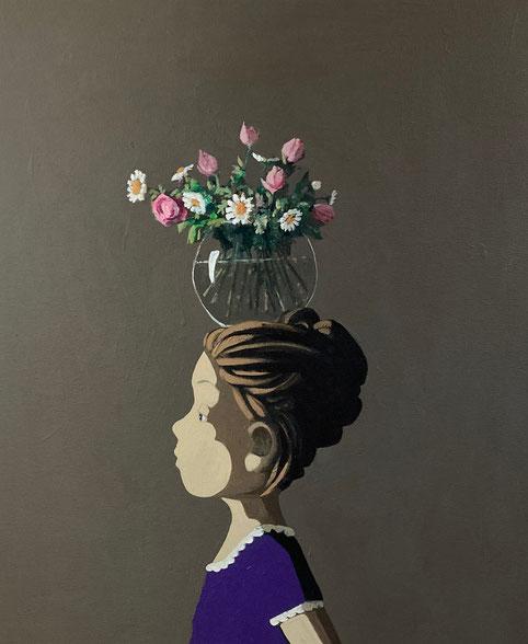 bunch of flowers - Acryl auf Leinwand, 60x50cm, 2021