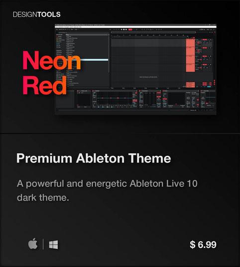 Premium Ableton Live 10 Theme/Skin NeonRed