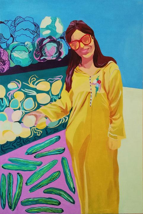 Femme Marocain IV - 2019 - 80x120 cm, acryl op doek
