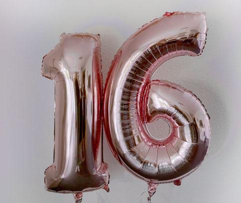 Ballon Luftballon Heliumballon Heliumzahl Zahlenballon Zahl 16 18 20 30 40 50 60 70 80 90 100 rosegold silber gold Versand verschicken in der Box Überraschung Idee Deko Dekoration Mitbringsel