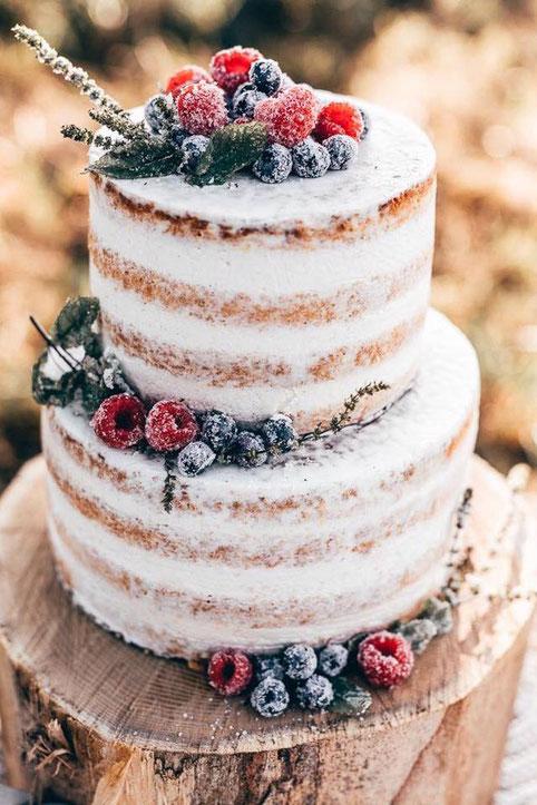 Semi Naked Cake Früchte