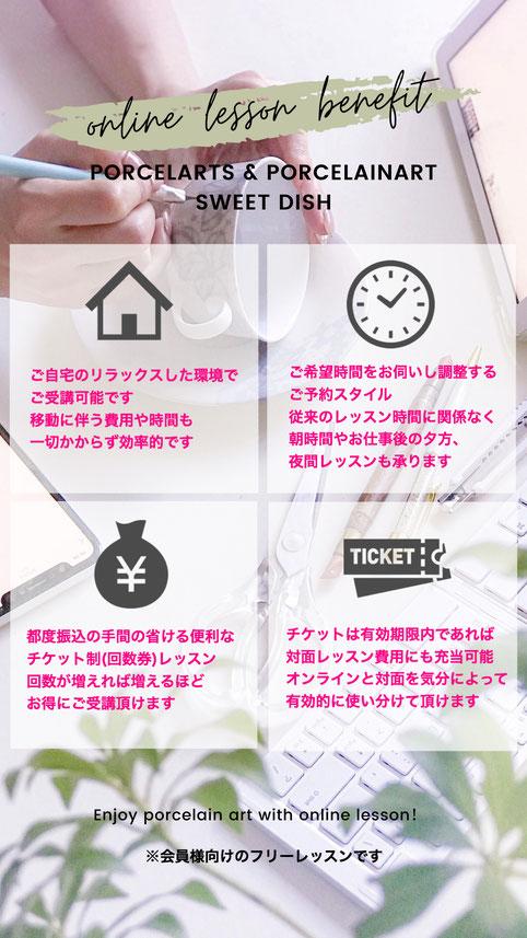 ポーセラーツ教室大阪 オンラインレッスン
