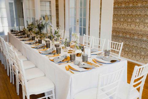 Hochzeitsdekoration im Gästehaus am Lehnitzsee