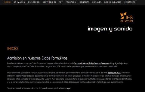 Ciclos Formativos De Imagen Y Sonido Ies Albayzín Granada