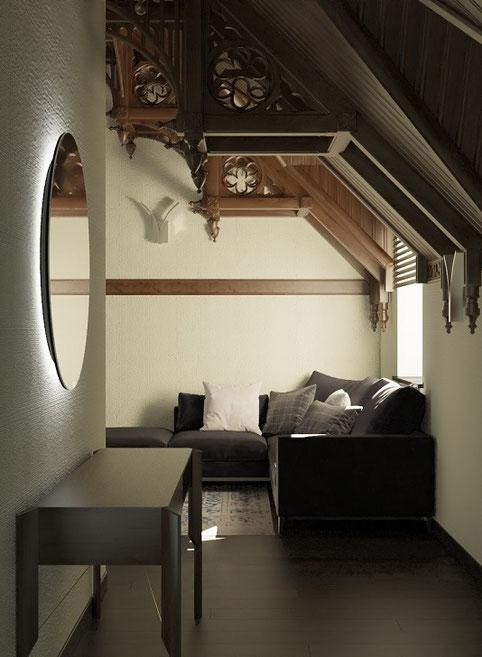 Дизайн интерьеров коттеджа в стиле хай тек