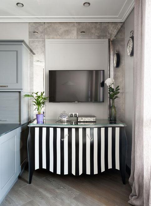 Дизайн интерьеров квартиры 158 кв. метров в стиле ар деко