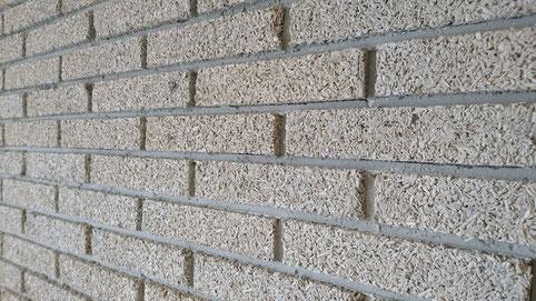 Muri per assorbimento acustico con blocchi calce canapa