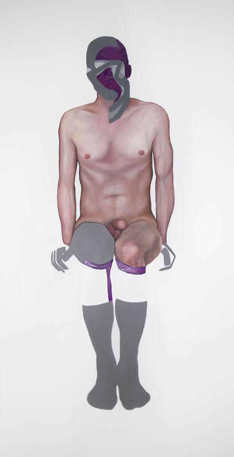 Trans/Masc, (Serie 2), #11, 2020, Öl auf Leinwand, 200 x 101 cm
