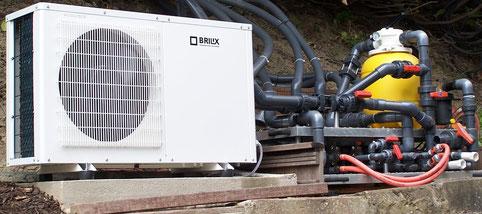 Wärmepumpe und Pumpenstation incl. Verhahnung