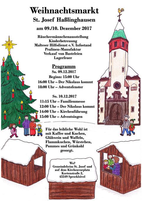 Weihnachtsmarktplakat 2017