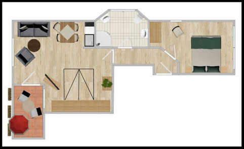 "Groundplan - 2-room-apartment Nr. 4 - ""Almresi"""