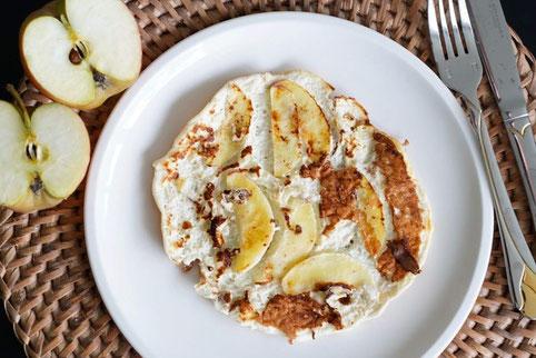 Apfel-Pfannkuchen| fruchtig, saftig & gesund