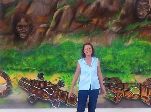 Claire in Australia in 2017