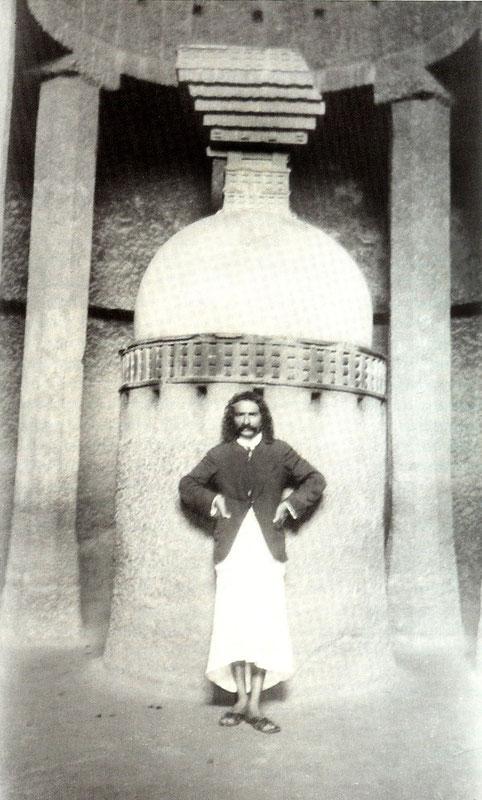Baba at the Pandu Lena Cave, Nasik ; 1927