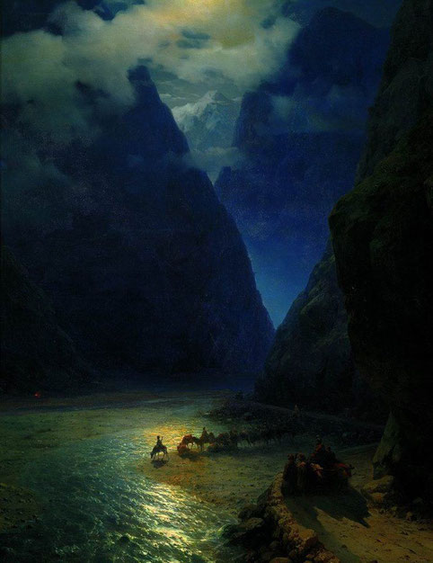"Ivan Aivazowsky, ""Il passo di Darial""(1862)"