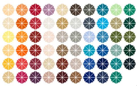 Auswahl der Farben für Sonnenschirme in der Gastronomie
