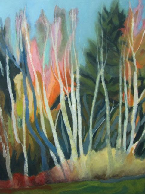Waldrand 3, 2013 Acryl auf Leinwand 160x120