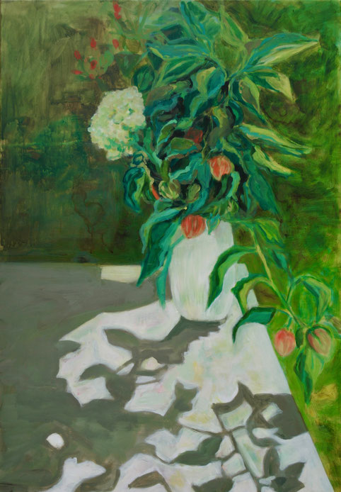 Bouquet dans le jardin, 2018 Acryl auf Leinwand 1117x80