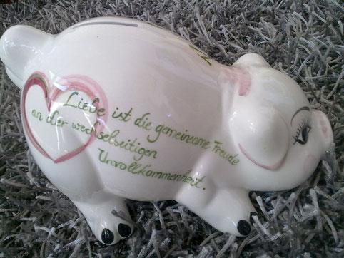 Keramiksparschwein zur Hochzeit € 55,-