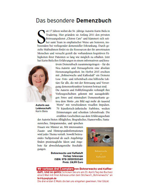 APOLLON TEMPEL Verlag, das besondere Demenzbuc