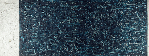 METEOR SHOWER 1   F6*2   2010 acrylic on canvas, wood   820mm*318mm