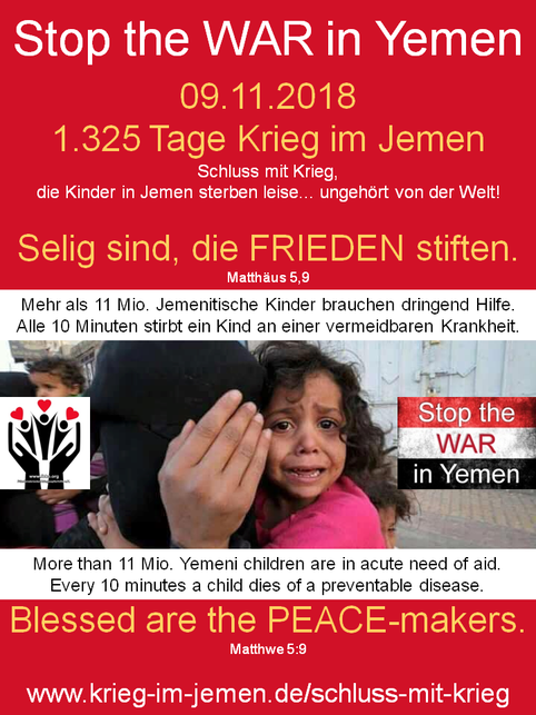 """PDF-Download für Schweigeminute """"Die Kinder im Jemen sterben leise ..."""