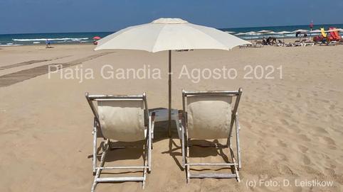 Playa Gandia, Valencia, Ende August 2021, Foto ©Leistikow