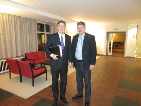 Davis McAllister (MdEP) nach einem Vieraugengespräch mit Winfried Gburek.