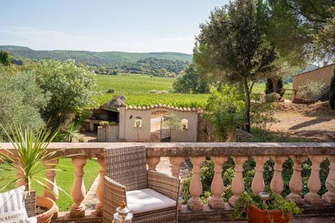 chambres d'hotes avec vue imprenable sur les vignobles des Corbières dans l'Aude