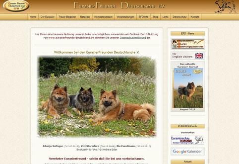 Ronja, Ýlvi u. Bia auf der EFD Startseite - zum Vergrössern bitte Foto anklicken
