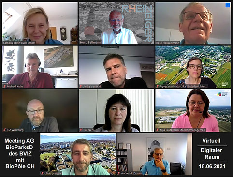 Meeting BioParks mit BIOPÔLE; Teilnehmer; Screenshot
